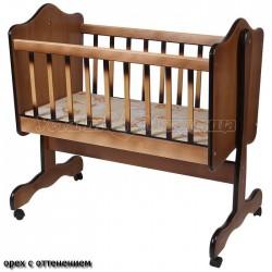 Колыбель детская Счастливый малыш с матрасом