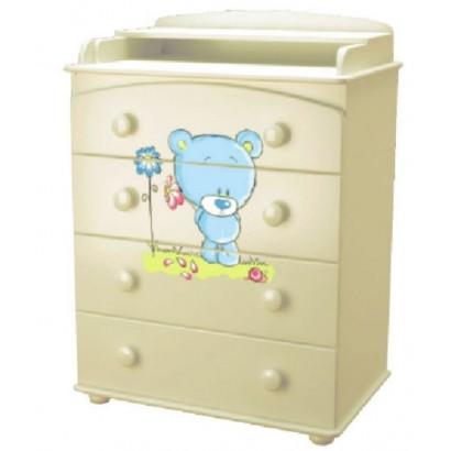 Детский пеленальный комод Laluca Медвежонок (Можгинский лесокомбинат)