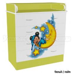 Детский пеленальный комод Микки 4 ящика