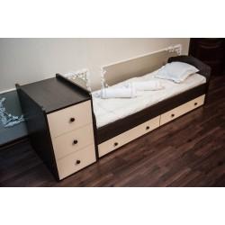 Детская кроватка-трансформер Папа Карло 1/1 поперечный маятник
