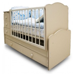 Детская кроватка трансформер с маятником Антошка (Можгинский лесокомбинат)