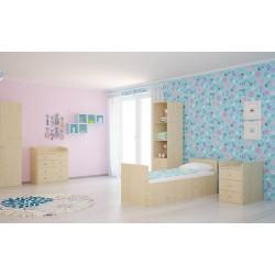 Детская кроватка-трансформер Polini Simple 1000 с комодом