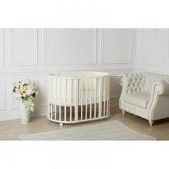 Детская круглая кроватка трансформер для новорожденного Incanto Mimi 7 в 1