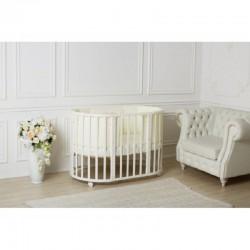 Детская круглая кроватка трансформер для новорожденного Incanto Mimi 7 в 1 - АКЦИЯ