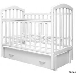 Детская кроватка для новорожденного Антел Алита 6  продольный  маятник + закрытый ящик