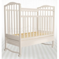 Детская кроватка для новорожденного Агат Золушка-2 колесо-качалка-ящик