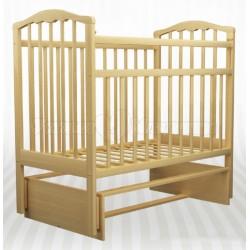 Детская кроватка для новорожденного Агат Золушка-3 - поперечный маятник без ящика