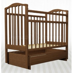 Детская кроватка для новорожденного Агат Золушка-4 поперечный маятник с ящиком