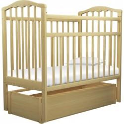 Детская кроватка для новорожденного Агат Золушка-6 продольный маятник с ящиком