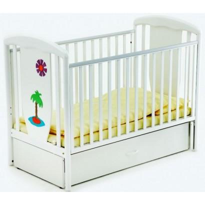 Детская кроватка для новорожденного-маятник 125x65 Papaloni Vitalia (Папалони)