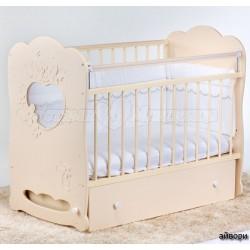 Детская кроватка для новорожденного поперечный маятник Островок уюта Птенчики