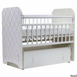 Детская кроватка для новорожденного поперечный маятник Топотушки Анжелика