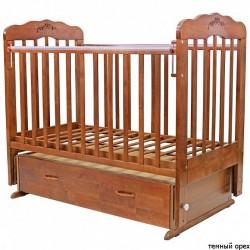 Детская кроватка для новорожденного поперечный маятник Топотушки Виолетта-6