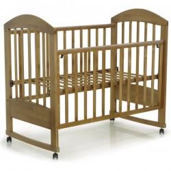 Детская кроватка Топотушки Дарина 2 на колёсах с качалкой