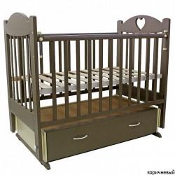 Детская кроватка для новорожденного поперечный маятник ящик Топотушки Ева-6