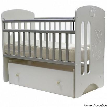 Детская кроватка для новорожденного поперечный маятник ящик колёса Топотушки Каролина