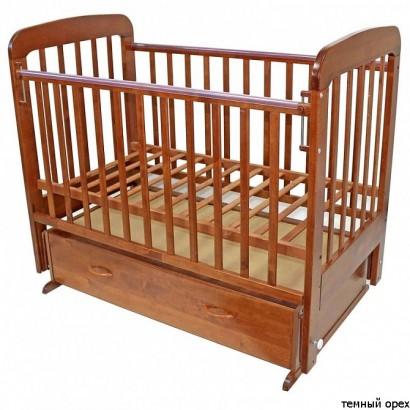 Детская кроватка для новорожденного поперечный маятник ящик Топотушки Милана 6