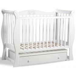 Детская кроватка для новорожденного Baby Luce Умка поперечный маятник