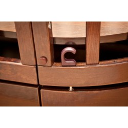 Детская круглая кроватка продольный маятник Можга Красная звезда Паулина С324
