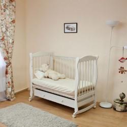 Детская кроватка для новорожденного Можга Красная звезда Уралочка С 747 колёса + качалка + ящик