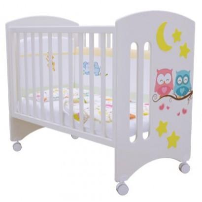 Детская кроватка для новорожденного с колёсиками Laluca Софи (Совята) Можгинский лесокомбинат