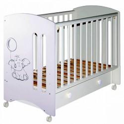 Детская кроватка Laluca Софи (Слоник) на колёсиках, с ящиком Можгинский лесокомбинат