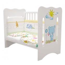 Детская кроватка для новорожденного на колёсиках Laluca Руслана (Медвежонок) Можгинский лесокомбинат
