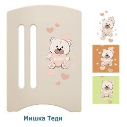 Детская кроватка поперечный маятник с ящиком Laluca Софи (Мишка Тедди) Можгинский лесокомбинат