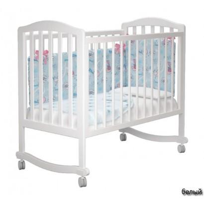 Детская кроватка для новорожденного на колёсиках Милано Пикколо Можгинский лесокомбинат