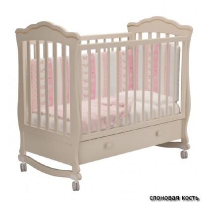 """Детская кроватка для новорожденного качалка на колёсах Милано """"Вэлла-1"""" Можгинский лесокомбинат"""