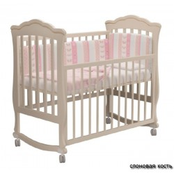 Детская кроватка для новорожденного на колёсах Милано Вэлла Можгинский лесокомбинат
