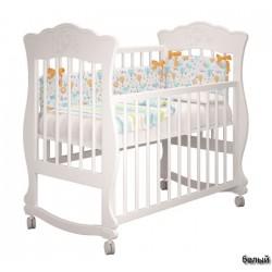 Детская кроватка для новорожденного качалка на колёсах Милано Елена Можгинский лесокомбинат