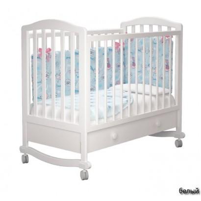 Детская кроватка для новорожденного колесо+ящик Милано Пикколо-1 Можгинский лесокомбинат