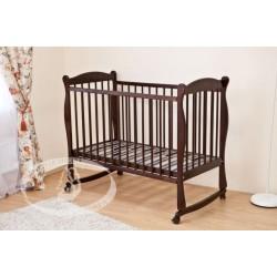 Детская кроватка для новорожденного Можга Красная звезда Уралочка С 753 колёса + качалка
