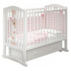 Детская кроватка для новорожденного Можгинский лесокомбинат Милано Бьянка-3 универсальный маятник с ящиком