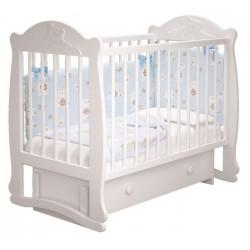 Детская кроватка для новорожденного Милано Мишутка-3 универсальный маятник, с ящиком Можгинский лесокомбинат