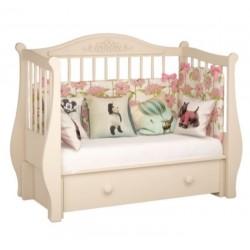 Детская кроватка для новорожденного Милано Джульетта продольный маятник, с ящиком Можгинский лесокомбинат