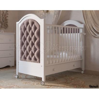 Кроватка для новорожденного Гандылян Софи Люкс (колёса + ящик)
