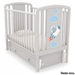 Кроватка для новорожденного Angela Bella Жаклин Мишка на ракете (универсальный маятник+ящик)
