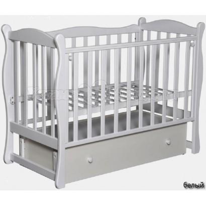 """Кроватка для новорожденного Антел """"Северянка 2"""" 1 (поперечный маятник+закрытый ящик)"""