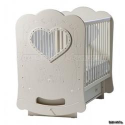 Детская кроватка для новорожденного с поперечным маятником Лель Кубаньлесстрой БИ 44.2 Baby Sleep-2 (сердце)