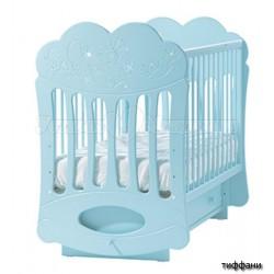 Детская кроватка для новорожденного поперечный маятник Лель Кубаньлесстрой Baby Sleep-1 (облачко) БИ 43.2