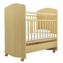 Детская кроватка Агат Золушка-9 колёса + качалка + ящик