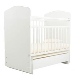 Детская кроватка для новорожденного Агат Золушка-11 поперечный маятник с ящиком