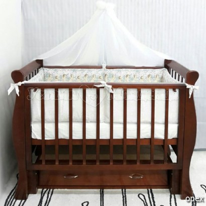 Детская кроватка для новорожденного byTWINZ Венеция-1 универсальный маятник
