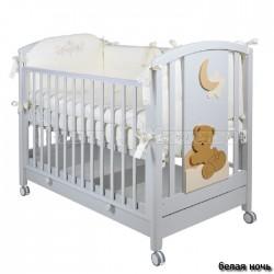 Детская кроватка для новорожденного Mibb Babi колесо+ящик