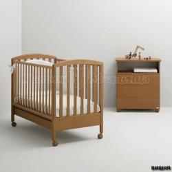 Детская кроватка для новорожденного Mibb Superpop колесо+ящик