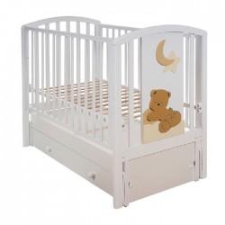 Детская кроватка Mibb Babi продольный маятник с ящиком