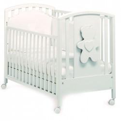 Детская кроватка для новорожденного на колёсах с ящиком Mibb New Soft Bianco