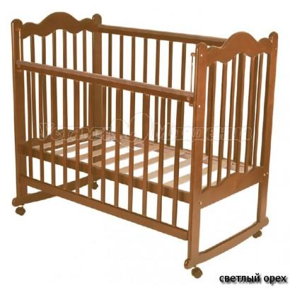Детская кроватка для новорожденного Счастливый малыш Дюймовочка (на колёсиках)